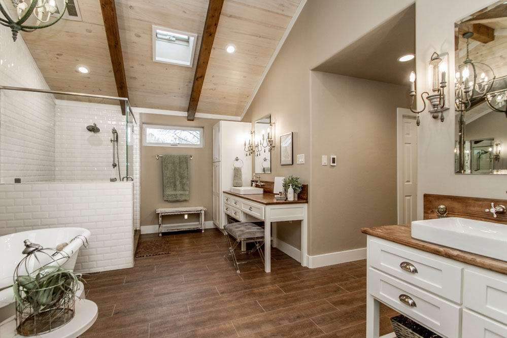 Modern Farmhouse Bathroom Remodel in Ferndale Arkansas